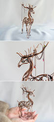 Deer Wire sculpture by UrsulaJewelry