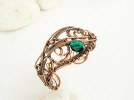 Wire copper bracelet  Spring by UrsulaJewelry