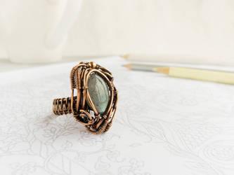 Labradorite ring by UrsulaJewelry