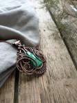 Malachite copper necklace