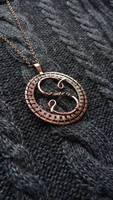 Personalized necklace lettera S