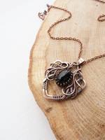 Black agate pendant by UrsulaJewelry