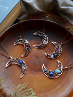 Wire copper Moons by UrsulaJewelry