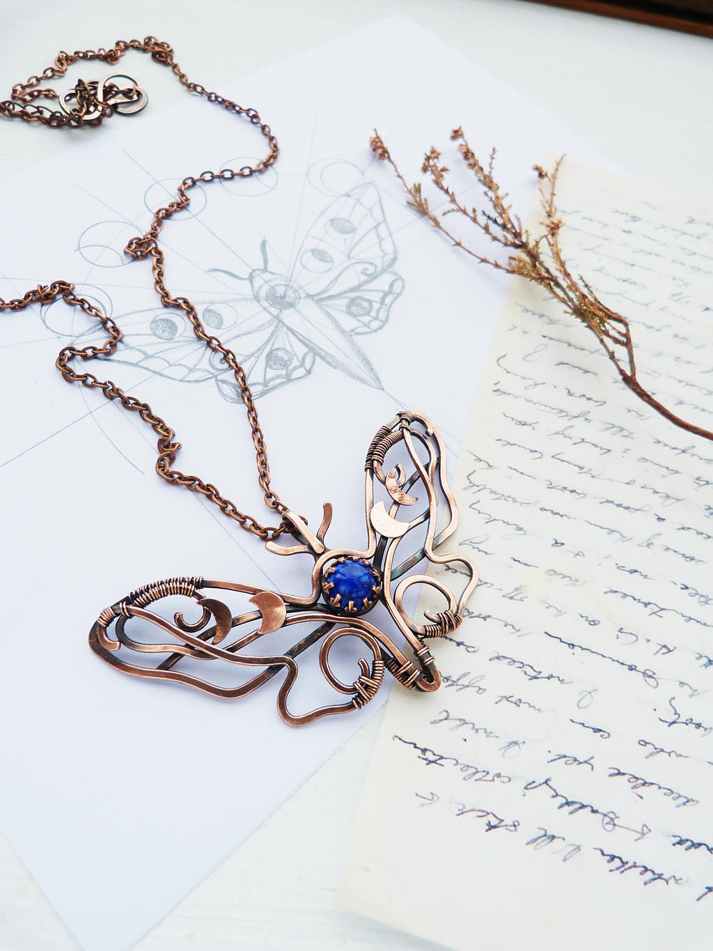 Moth and Moon by UrsulaJewelry