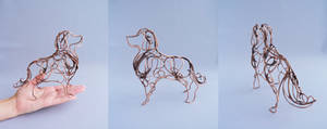 Golden retriever wire sculpture