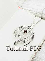 Dragon pendant  - silversmith jewelry tutorial