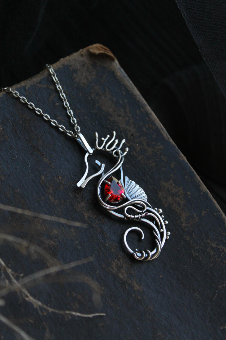Seahorse silver pendant by UrsulaJewelry on DeviantArt