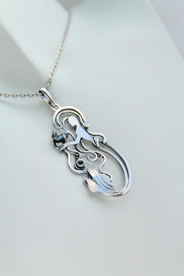 Mermaid necklace by UrsulaJewelry
