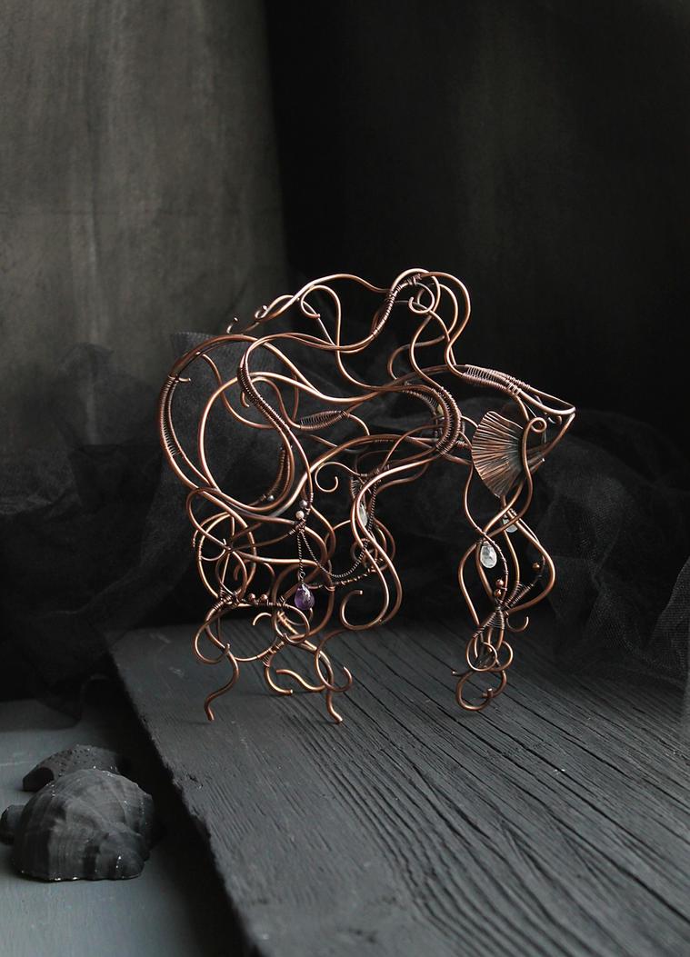 Betta fish wire sculpture by UrsulaJewelry on DeviantArt