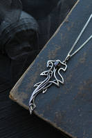 Hammerhead shark necklace with garnet by UrsulaJewelry