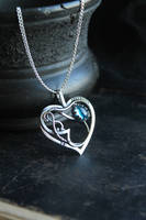 Frozen heart necklace by UrsulaJewelry