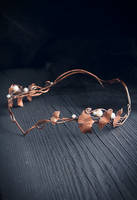 Elven crown with ginkgo leaves by UrsulaJewelry