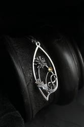 Dandelion silver necklase by UrsulaJewelry