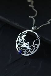 Moon Rabbit necklace by UrsulaJewelry