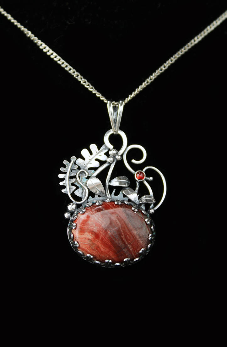 Cranberries silver necklace by UrsulaJewelry