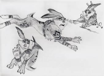 Bunnymund Rabbit Poses