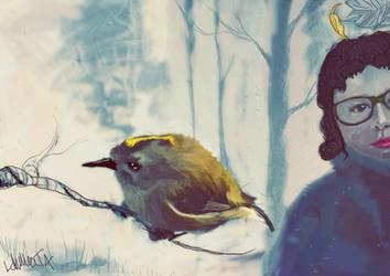 Bird and a Woman by TeijoLahtinen