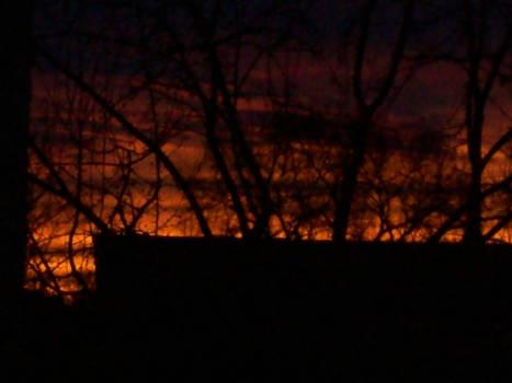 Firey sunset 3