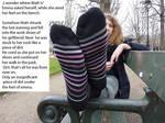 Stuck on girlfriends socks(english)