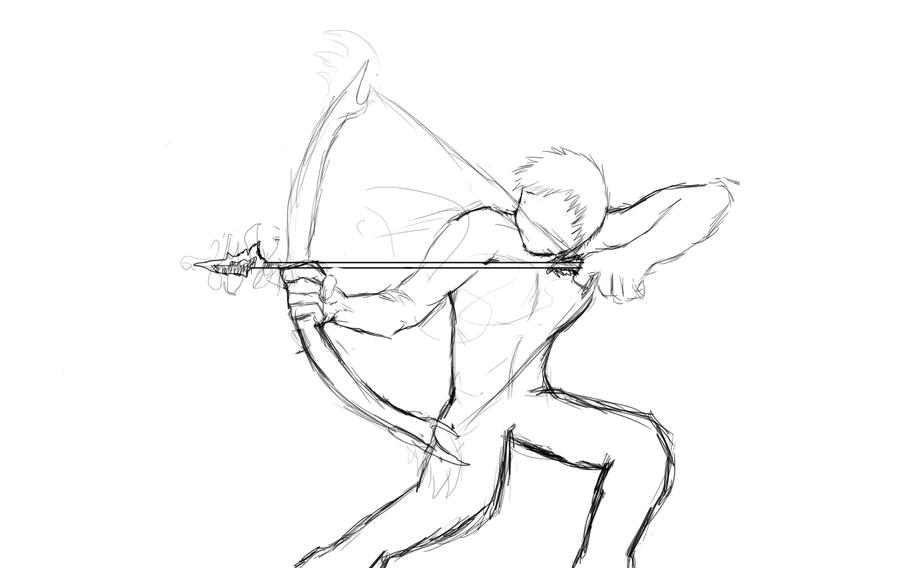 Cool bow and arrow drawings