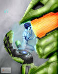Master Chief and Cortana by KumoISAMASHII