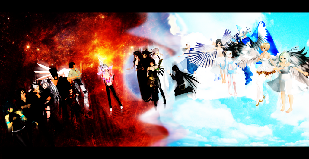 Demons vs. Angels by Wt-Jok on DeviantArt