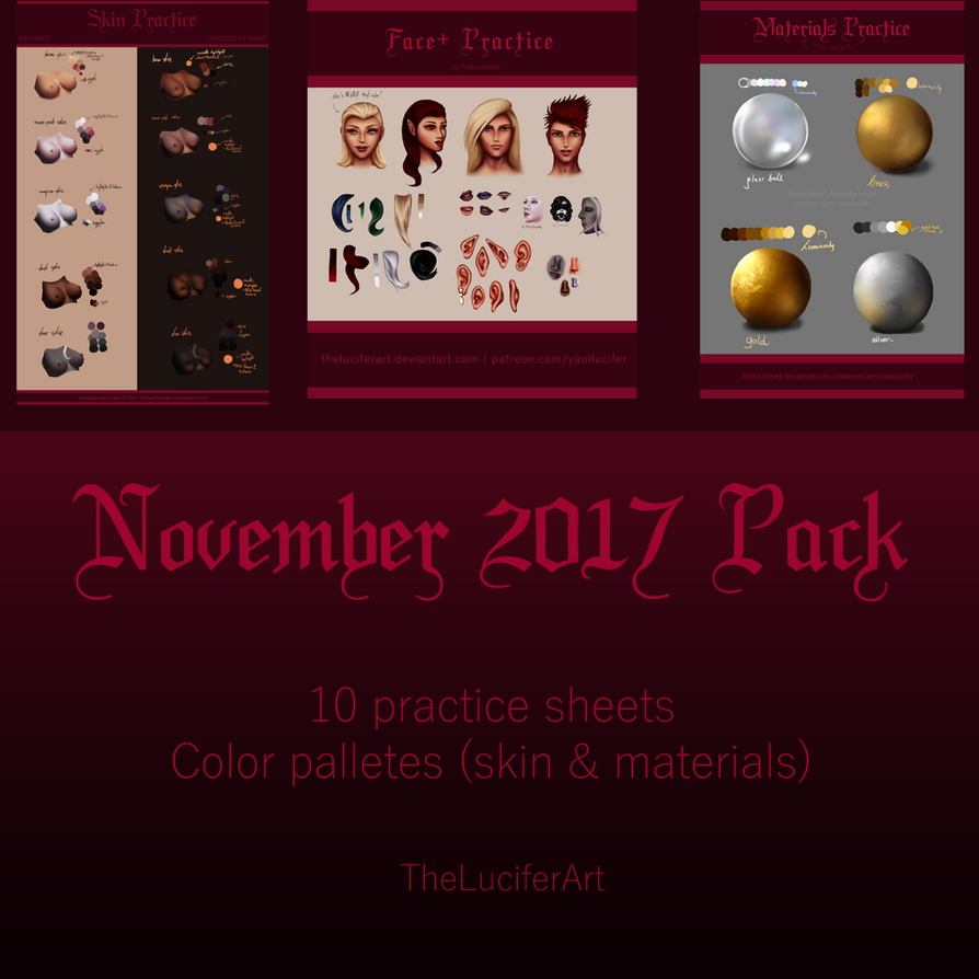 November 2017 Pack by TheLuciferArt