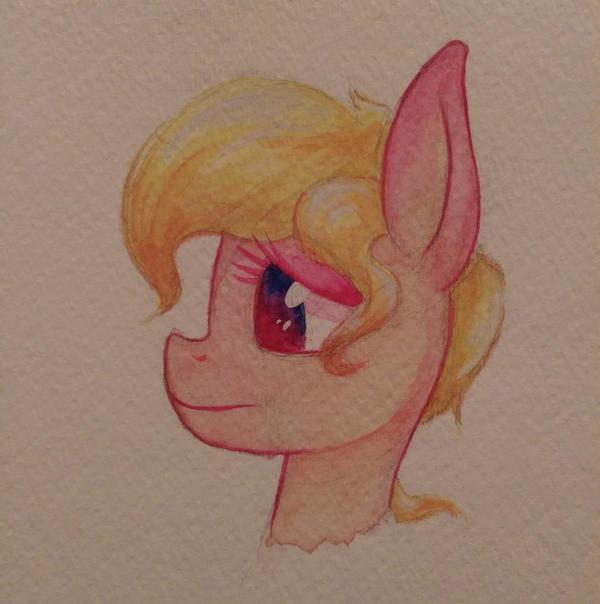 pink horse by Flowbish