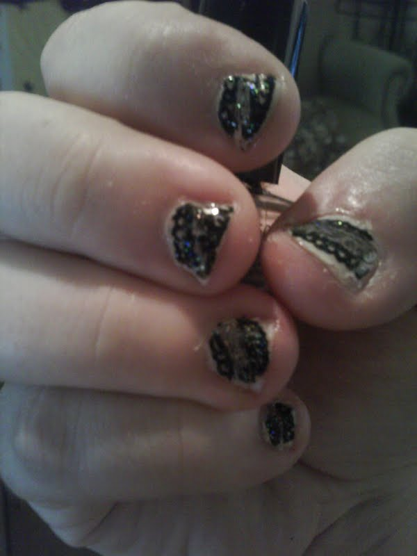 CutePolish Black Lace Design by Masquerade111 on DeviantArt