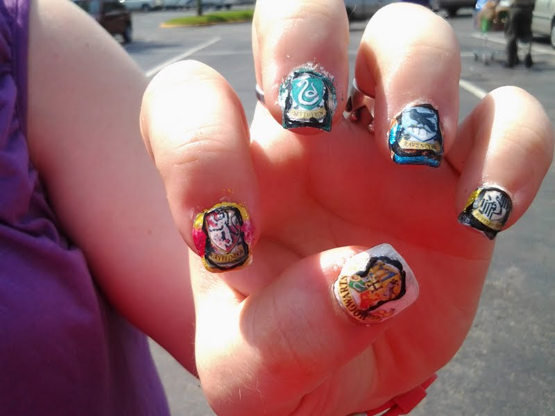 Harry Potter Hogwarts Houses Nail Art By Masquerade111 On Deviantart