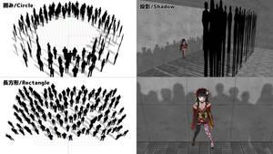 [MMD] Mob Silhouette CC
