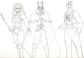 Steampunk Justice League 3 by tedkordlives