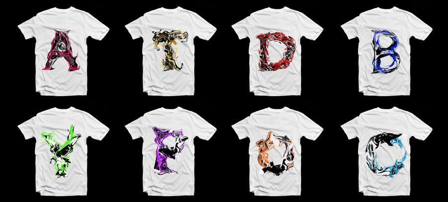 T shirt letter collection by gurez on deviantart for Cute greek letter shirts