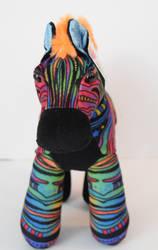 Rainbow Zebra plush Fv