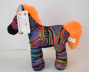 Rainbow Zebra plush Lv