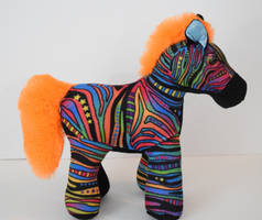 Rainbow Zebra plush Rv