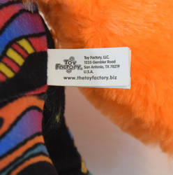 Rainbow Zebra plush sewn tag 1