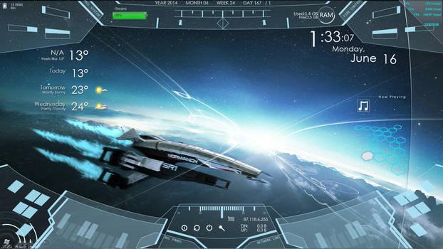 Normandy From Mass Effect Rainmeter setup