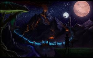 Adanji At Red Mountain Night by MTibbs-89