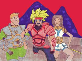 the dragoon trio by corizon9