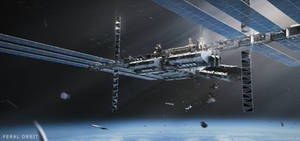 Feral Orbit - Station Exterior by korpehn