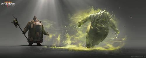 Warhammer: Vermintide 2 - Plague Wave VFX Concept by korpehn