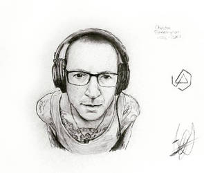 CHESTER BENNINGTON SKETCH by JohnnyNoise