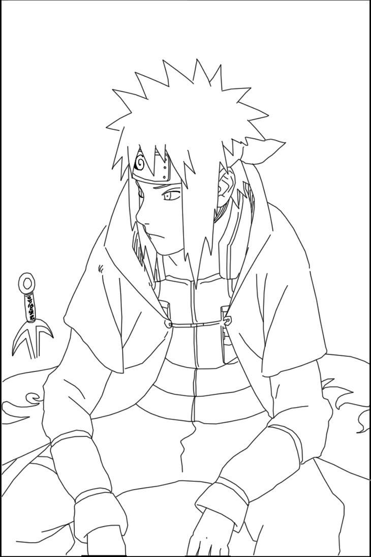 Naruto minato lineart by lil craka on deviantart - Coloriage naruto shippuden en couleur ...