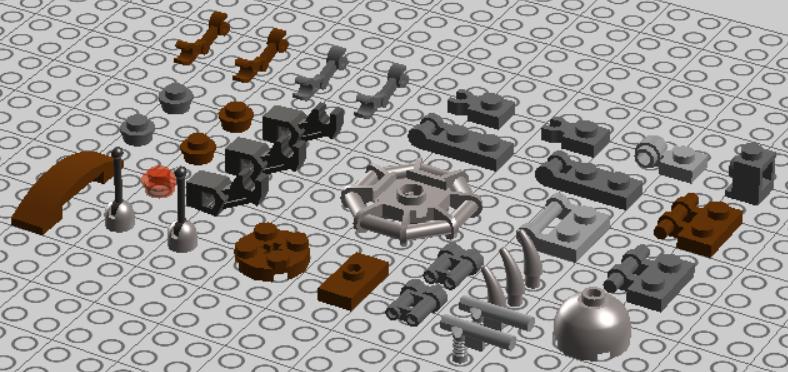 LEGO Starwars Droideka Design 06 by nnmushroom