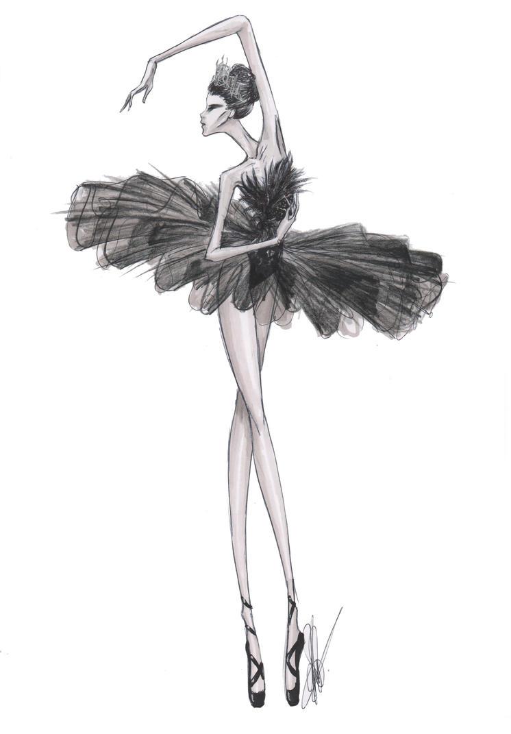 Wall Art Black And White Print Fashion Sketch