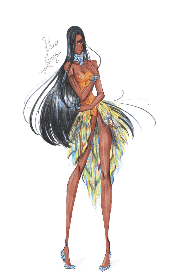 Fashion Pocahontas by frozen-winter-prince