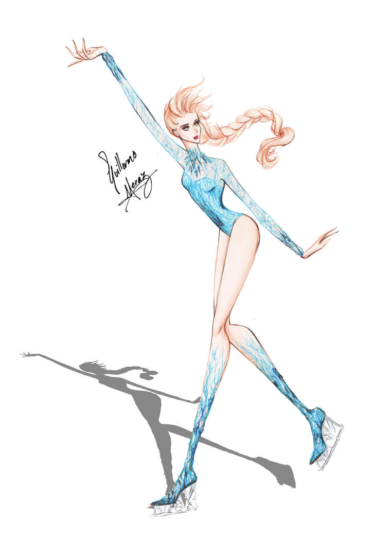 Elsa Ice Skating by frozen-winter-prince