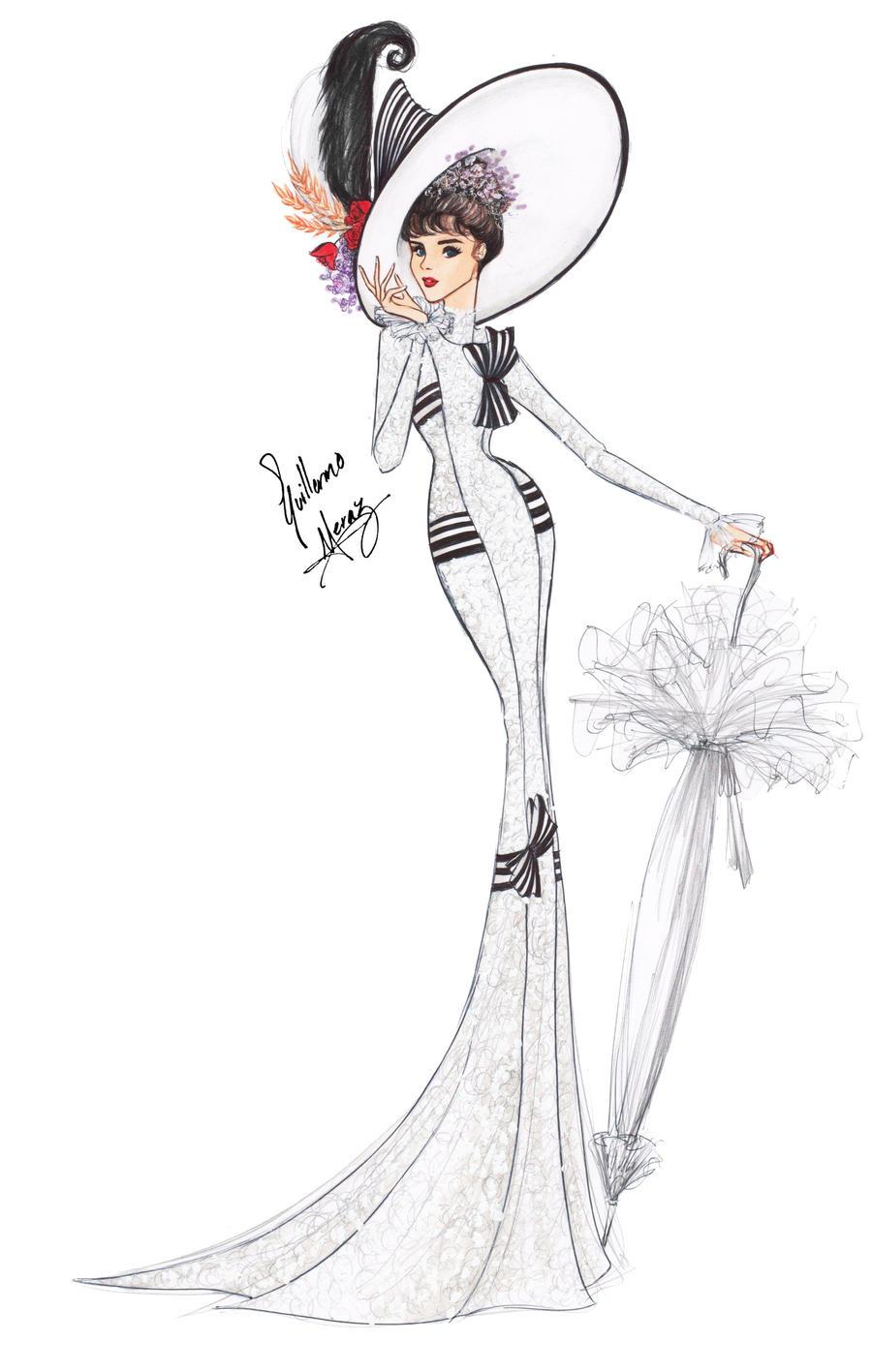 how to draw a fancy lady