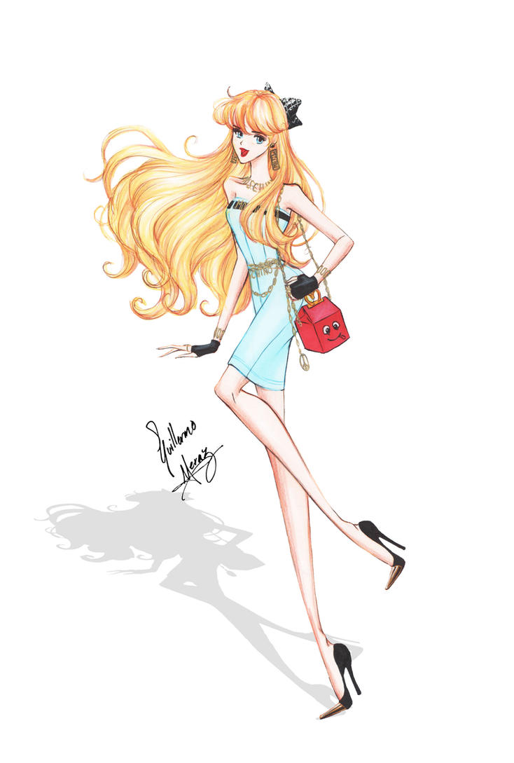 Sailor Venus in Moschino outit by frozen-winter-prince